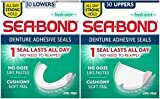 Sea-Bond Denture Adhesive Seals Bundle, Fresh Mint, 30 Uppers and 30 Lowers