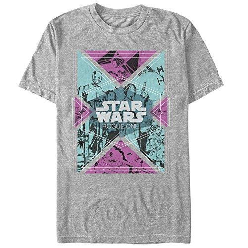 Retro Stars (Star Wars Rogue One Retro Rebel Geometric Print Mens Graphic T)