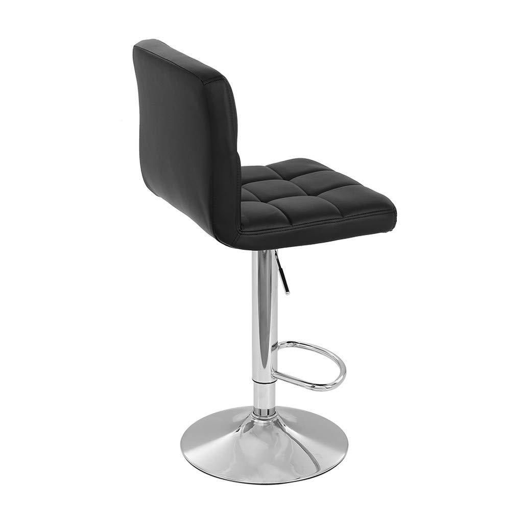 TADAMI Adjustable Bar Stools, Set of 2 Leather Bar Stools Counter Height Swivel Bar Stools Chair (Black) by TADAMI (Image #6)