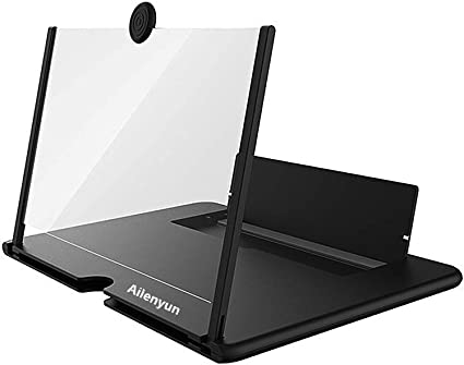 RollingBronze Phone Amplifier Thin Foldable Mobile Phone Screen HD Folding Stand Holder Bracket for Home 3D Mobile Phone Screen Enlarger Magnifier with Stand Gifts for The Elderly