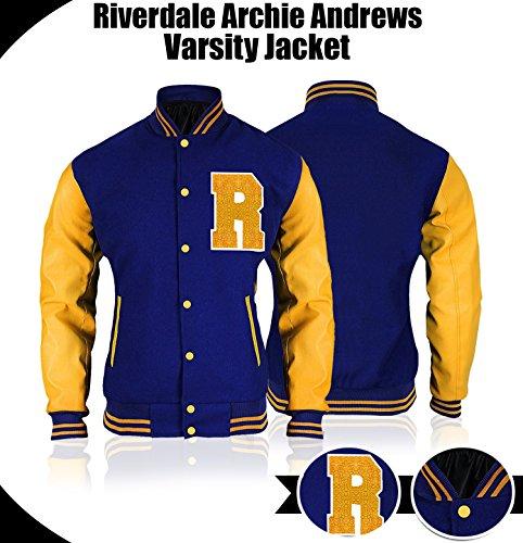 Men R Logo Bomber Varsity Letterman Jacket