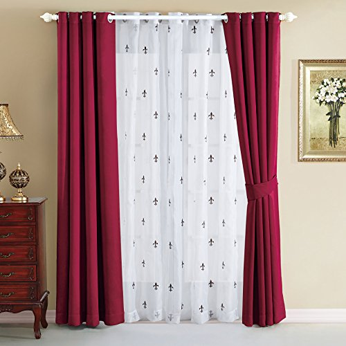 Serenta Insulated Blackout Curtains Burgundy product image