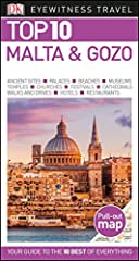 """Newly revised, updated, and redesigned for 2018.True to its name, DK Eyewitness Travel Guide: Top 10 Malta & Gozo covers all the archipelago's major sights and attractions in easy-to-use """"top 10"""" lists that help you plan the vacation that..."""