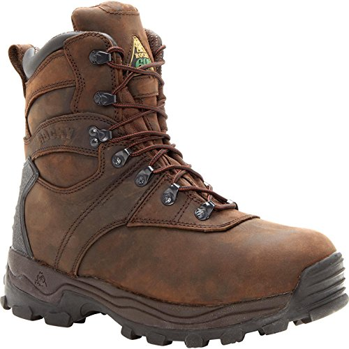 Rocky Men's Sport Utility 7 Inch Hunting Boot,Brown Leather,11.5 W US