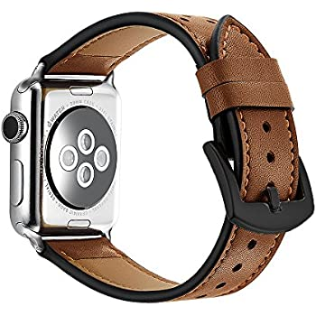 ee785d224c3 Amazon.com  Mkeke Compatible with Apple Watch Band 38mm 40mm Genuine ...