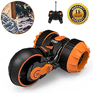 RC Stunt Car, Radio Control Racing Stunt Car Six Channel Double Sided 360 Degree Spins Rolling Flip the Stunt Actions Cool Styling