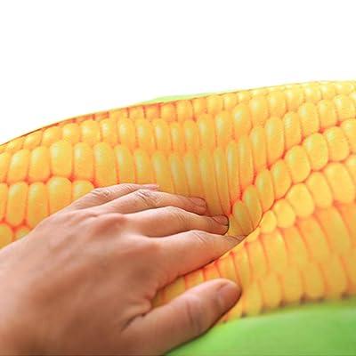 lzpoyaya Juguete de Felpa de maíz de simulación Creativa, Almohada de Plantas Suaves rellenas para decoración de cojín de sofá, Regalo de cumpleaños para niños 50 cm 1 Piezas: Juguetes y juegos