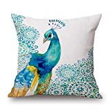 Slimmingpiggy 18 X 18 Inches / 45 By 45 Cm Peacock Throw Cushion Covers ,twin Sides Ornament And Gift To Home,gril Friend,christmas,pub,boys,christmas