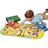 CP Toys 26 pc. Die Cast Micro Racers Playset with Play Mat and 2 Pop-up Buildings