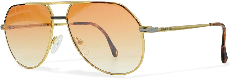 Hilton Exclusive14 1 Gold Vintage Sunglasses Aviator For Men