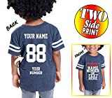 Custom Cotton Jerseys for Toddlers and Kids - MAKE YOUR OWN JERSEY T Shirts - Personalized Team Uniforms for Casual Outfit