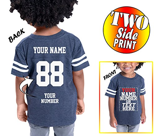 Tee Miracle Custom Cotton Jerseys For Toddlers and Kids - Make Your Own Jersey T Shirts - Personalized Team Uniforms For Casual Outfit