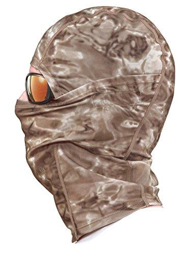 Aqua Design: Cool Weather Mens Face Mask UPF50+ Sun Wind Helmet Liner Balaclava: Pacific Sand by Aqua Design (Image #2)