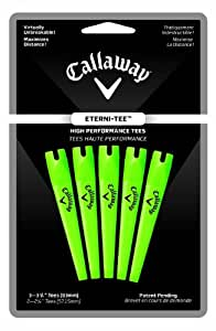 Callaway Eterni-Tees - 5 Count Large, 3 1/4-Inch (Lime Green)
