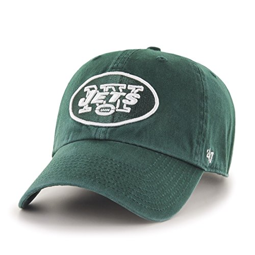 NFL New York Jets '47 Clean Up Adjustable Hat, Dark Green, One Size