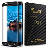 DigiBona Galaxy S7 Edge Tempered Glass 3D Full Coverage Screen Protector, Black