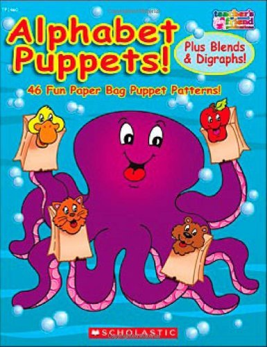 Alphabet Puppets! Plus Blends & Digraphs!: 46 Fun Paper Bag Puppet Patterns! by Karen Sevaly (March 01,2007)