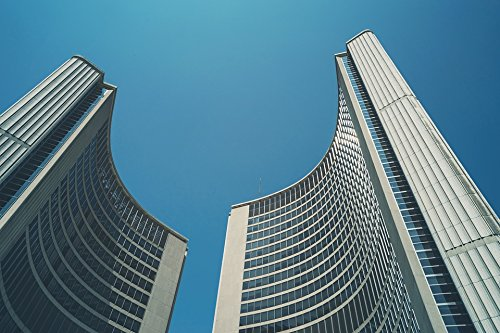 Home Comforts LAMINATED POSTER Toronto New City Hall Toronto City Hall Canada Poster 24x16 Adhesive Decal (Hall Canada City)