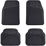 AmazonBasics 4 Piece Heavy Duty Car Floor Mat, Black