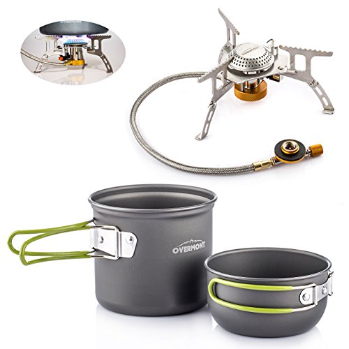 1-2 Person Portable Camping Hiking Outdoor Cooking Set - 4