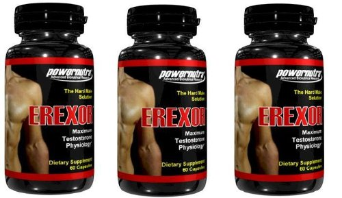 EREXOR Male Enhancement Pills Penis Enlargement - Pack de 3 bouteilles-180 Capsules