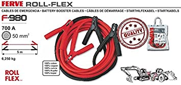 Ferve - Battery Booster Cables 700A 50mm F980, Color 0 ...