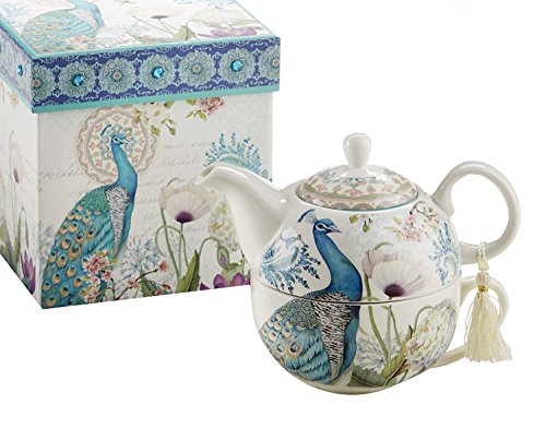 Delton Products Peacock Porcelain Gift product image