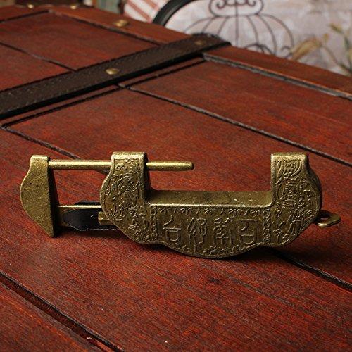 Antiguo Viejo Cajas candados. Cruz Vintage Cobre Cerradura. Antiguo Antiguas cerraduras. Creativa Pieza de Plata de Bloqueo: Amazon.es: Hogar