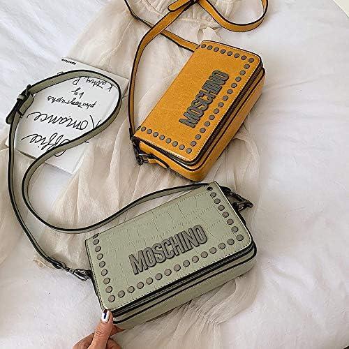 GEZHF Letter Korean Version Of Wild Small Fashion Rivets Women Cross Body Bag Shoulder Messenger Bags Handbags