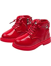 Kehen Little Kids Martin Boots Sneaker Girl Boy Shoes Outdoor Rain Hiking Winter Snow Booties