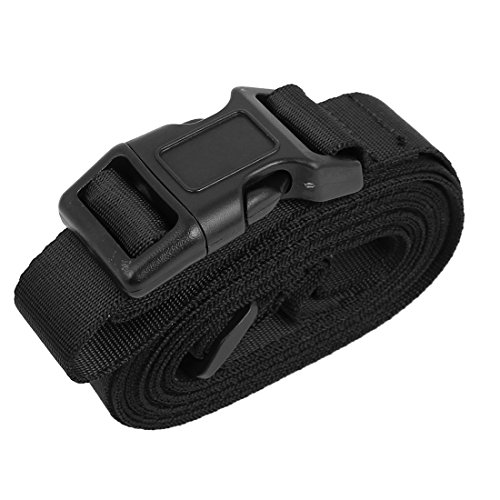 uxcell Quick Release Buckle Luggage Suitcase Baggage Belt Strap 10Ft Black