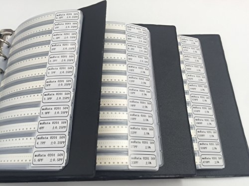 OneBelief [0201] Capacitors (0.5pF-220NF) SMD Chip Assortment Kit 51 Value Capacitor Sample Folder [2550 PCS] by OneBelief (Image #2)