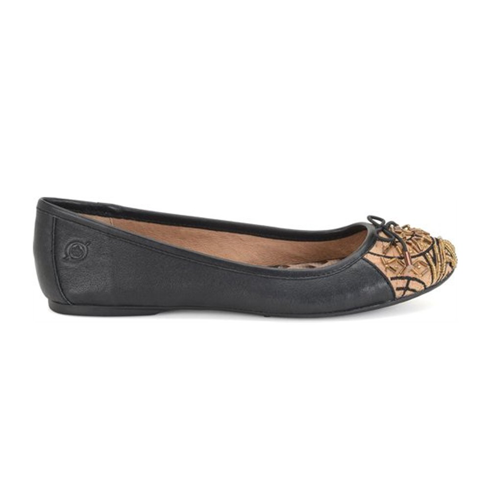 Born Women's Karmina Ankle-High Leather Flat Shoe B00LB2STAO 6 B(M) US|Black