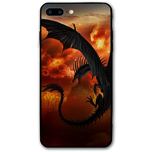 Happy Index A Dump of Dragons iPhone 7 Plus Case/iPhone 8 Plus Case Soft TPU Shell Shock-Absorption Bumper Anti-Scratch Case Enhanced Grip Protective Defender Cover ()