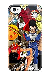 Tpu Shockproof/dirt-proof Fairy Tail X One Piece Crossover Cover Case For Iphone(4/4s)