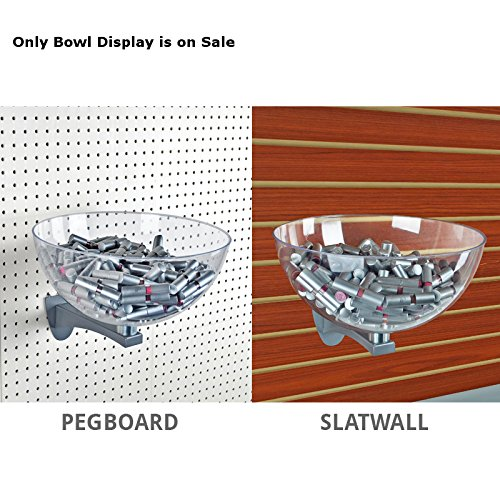 Clear Plastic Retail Hanging Bowl Display 6.75''D x 14''Dia. for Pegboard/Slatwall by Bowl Display