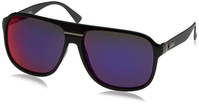 Gucci Lunettes de soleil Pour Homme 1076 S - GVB MI  Polished Black ... 1baa560941e4