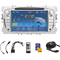 7-inch touchScreen Car DVD Player GPS navi car stereo Radio For Ford Focus 2008-2010 FAST 800 MHz CPU Built-in Bluetooth FM AM radio ipod Audio headunit+4gb Standard GPS Map Card+Free HD rear camera