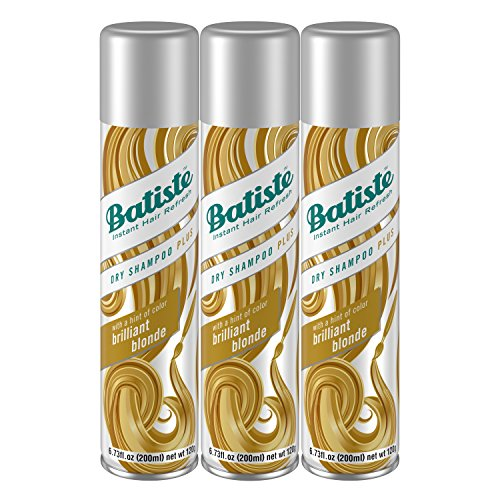 Batiste Dry Shampoo, Brilliant Blonde, 6.73 Fl Oz, Pack of 3