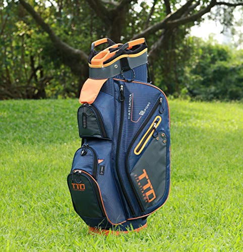 TTD TIANTIANDA 10 Pocket Golf Cart Bag - 14 Way, Orange