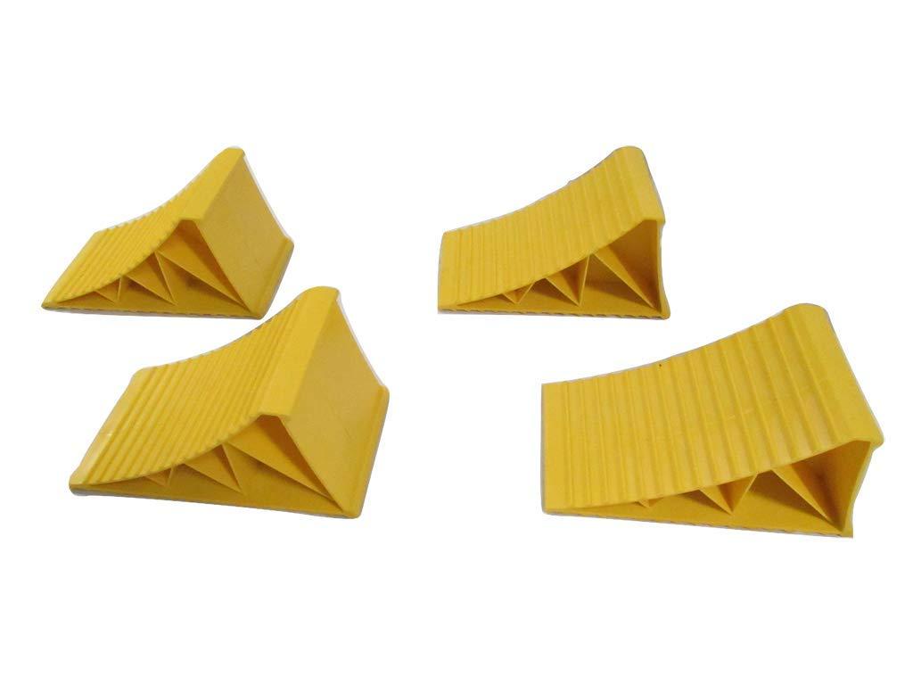 x4 Large Yellow Plastic Wheel Chocks