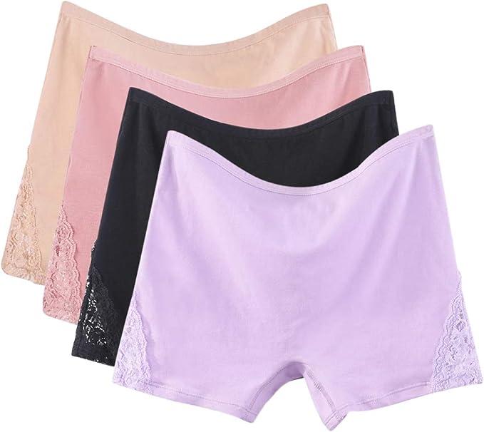 LONMEI Culotte de Talle Alto Algodón para Mujer Pack de 3/4/5 ...