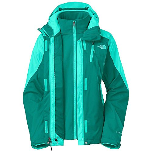 THE NORTH FACE WOMENS CONDOR TRICLIMATE FANFARE GREEN 3 IN 1 JACKET SZ -
