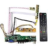 VSDISPLAY HDMI+VGA+CVBS+USB+RF+Audio LCD Motor Driver Board Controller Kit Work For 15.6'' LP156WH1 N156B3 1366x768 1CCFL 30Pin LCD Panel