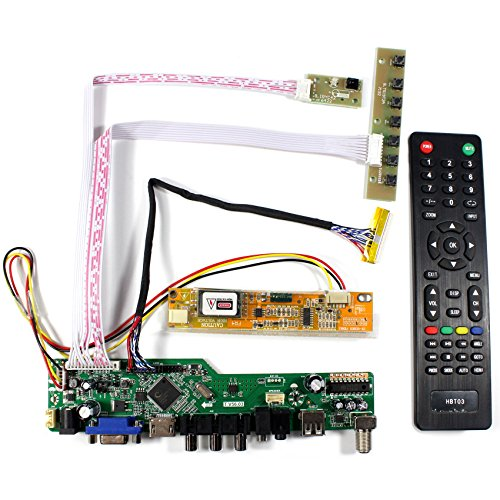 VSDISPLAY HDMI+VGA+CVBS+USB+RF+Audio LCD Motor Driver Board Controller Kit Work For 14.1'' 15.4'' LTN141AT01 LTN154AT10 1280X800 1CCFL 30Pin LCD Panel by VSDISPLAY