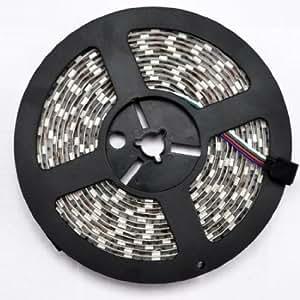 DQDF Water Resistant 16.4FT 5050 RGB LED Light Changing Flexible Light Strip 12V LED Strip Light 300 SMD