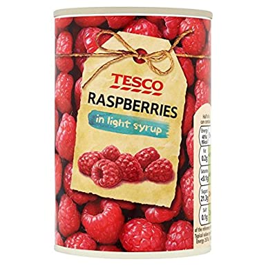 Tesco Raspberries In Light Syrup 300g Amazoncouk Grocery