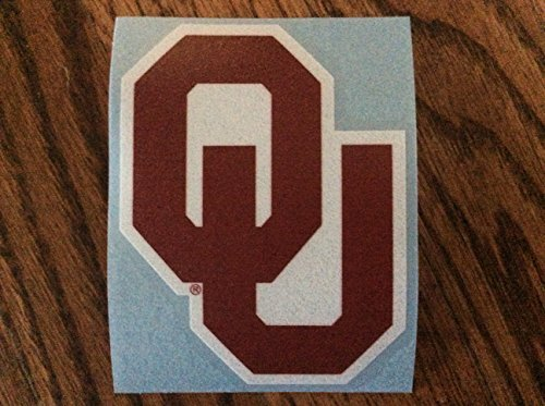 Craftique Oklahoma Sooners, Large Premium Die Cut Decal, CORN-HOLE, Made in the USA
