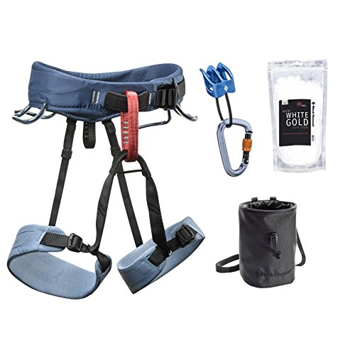 Black Diamond Momentum Climbing Harness Package - Men's Slate Medium