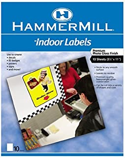 product image for Hammermill Inkjet Indoor Labels, 8 1/2in. x 11in. Sheets, Pack Of 15
